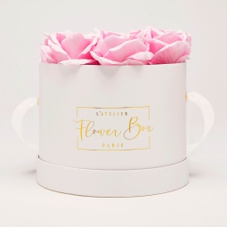 Medium white box rose doux