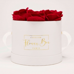 Medium white box rouge passion