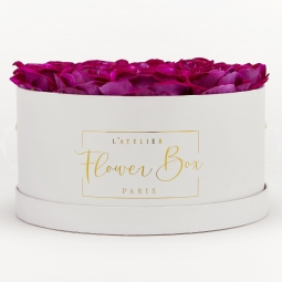 Luxe white box pourpre intense