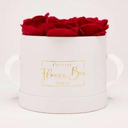 Medium white box rouge passion
