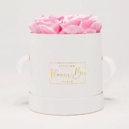 Little white box rose doux