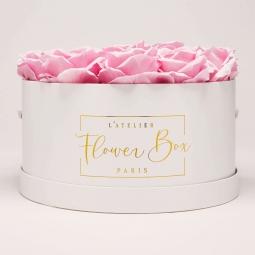 Luxe white box rose doux