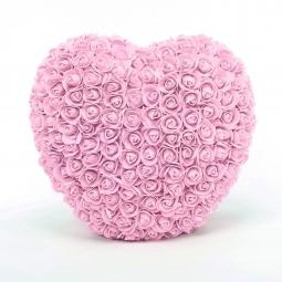 Coeur en roses roses